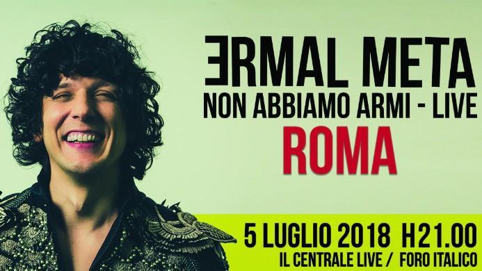 Ermal Meta concerto Roma Il Centrale Live Foro Italico Zerkalo Spettacolo