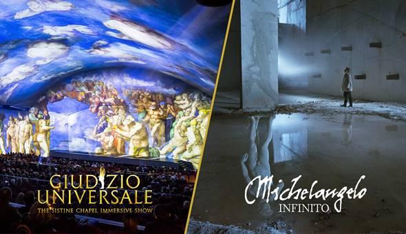 Giudizio Universale e Michelangelo - Infinito insieme all'Auditorium della Conciliazione zerkalo spettacolo
