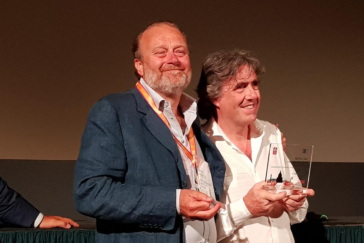 Gianfranco Pannone Ambrogio Sparagna Premio SIAE venezia 76 zerkalo spettacolo